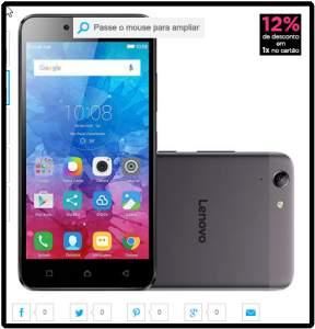 """[Submarino] Smartphone Lenovo Vibe K5 Dual Chip Android Tela 5"""" 16GB 4G Câmera 13MP - Grafite  por R$ 696"""