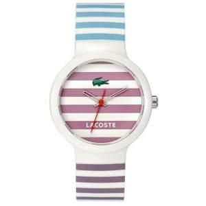 [VIVARA] Relógio Lacoste Unissex Borracha Branca