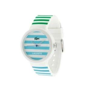 [VIVARA] Relógio Lacoste Unissex Borracha Branco com verde