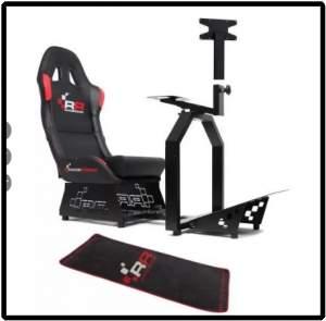 [Saraiva] Kit Raceroom Cockpit Rr 1000 + Tapete + Suporte TV  por R$ 270