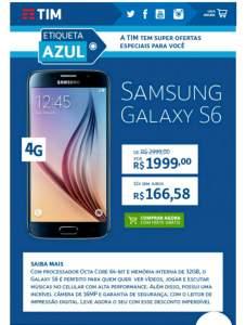 [Loja TIM] Galaxy S6 Preto ou Dourado por R$1999