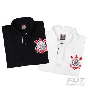 [Fut Fanatics] Combo Polo Corinthians Branca + Polo Corinthians Preta - R$78
