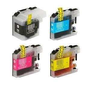 [Ponto Frio] Kit 4 Cartuchos para Brother DCP-J100 | DCP-J105 | MFC J200 | LC505 | LC509 CMYK Compatível - R$48