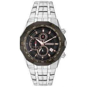 [RICARDO ELETRO] Relógio Masculino Cronógrafo Magnum, Caixa de 4,4 cm, Pulseira de Aço Prata, Resistente a Água 100 Metros - MA32201P - R$153