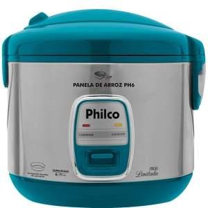 [EXTRA] Panela Elétrica Philco PH6 VD 6 Xícaras 500W - Aço Escovado/Verde - R$110