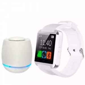 [Casas bahia/IMM] Kit Antenado - Relógio SmartWatch Bluetooth + 1 caixa de som Bluetooth iluminação LED por R$ 59
