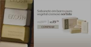 [Natura] Ekos Sabonete em Barra Puro Vegetal Cremoso Sortido - 4und de 100g R$ 19,70