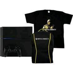 [Americanas] PS4 500GB + 1 Controle Dualshock 4 + Mochila e Camisa Mortal Kombat X - R$1.700
