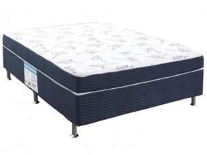 [Clube da Lu] Cama Box Casal Ortobom Conjugado 43cm de Altura - Physical Blue - R$299