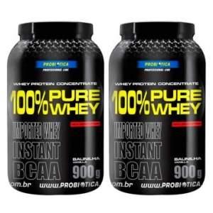 [Clube do Ricardo] - Leve 2 100% Pure Whey Chocolate - 900G - Probiótica pro R$ 160