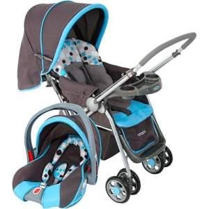 [AMERICANAS] Carrinho de Bebê Travel System Reverse Azul com Bebê Conforto - Cosco  - R$484
