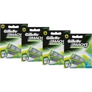 [Sou Barato] Carga Gillette Mach3 Sensitive com 12 Unidades - R$35,98