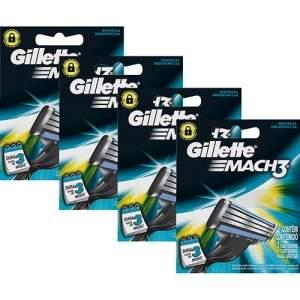 [Sou Barato] Carga Gillette Mach3 com 12 Unidades - R$35,98