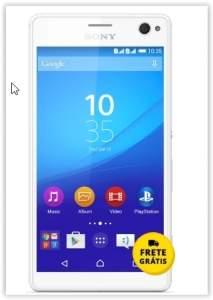 "[Saraiva] Smartphone Sony Xperia C4 Selfie Branco 4G Tela 5.5"" Android 5 Câmera 13Mp Dualchip TV 16Gb por R$ 791"