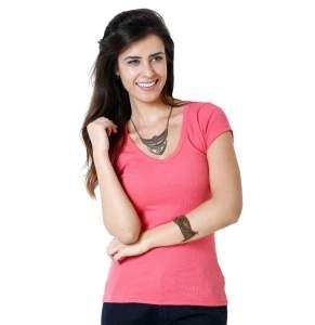 [Marisa] Blusa feminina em tecido canelado (3 cores disponíveis) - por R$6