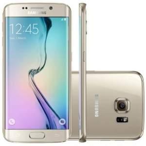 [Ricardo Eletro] Celular Smartphone Samsung Galaxy S6 Edge G925I Dourado - 4G, Tela 5.1 Curva Super AMOLED, Câmera 16MP +Frontal 5MP, Octa-Core 2.5Ghz, 32GB, Android 5 por R$ 2253 (PARCELADO)
