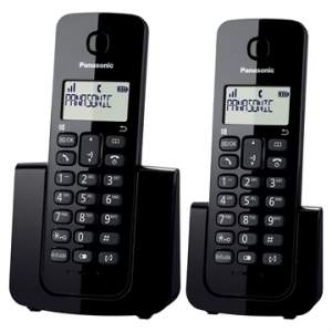 [EFACIL] Telefone sem Fio KX-TGB112LBB Preto com Identificador de Chamadas + Ramal - Panasonic POR R$ 185