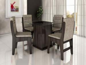 [MAGAZINE LUIZA] Conjunto de Mesa com 4 Cadeiras Movale - Amsterdam - R$500