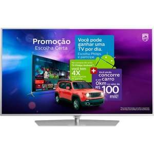 [Submarino] Smart TV LED Android 55'' Philips 55PUG6700/78 Ultra HD 4K com Conversor Digital 3 HDMI 3 USB Wi-Fi 120Hz Dual Core
