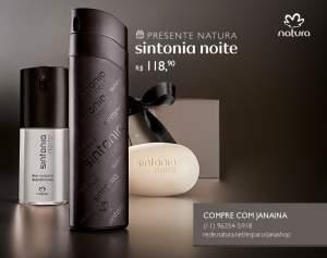 [Natura] Presente Natura Sintonia Noite - Desodorante Colônia + Deo Corporal + Sabonete em Barra + Embalagem R$ 118,90