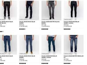 [Zattini] 2 calças jeans masculinas por R$109