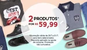 [C&A] Duas peças (femininas ou masculinas) por R$60