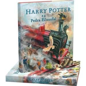 [Submarino] Livro Harry Potter e a Pedra Filosofal Edição Ilustrada (Capa Dura) - R$50