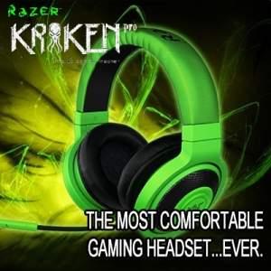 KABUM - Headphone Gamer Razer Kraken Verde e Preto 299,90