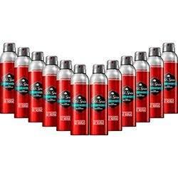 [Sou Barato] Kit com 12 Desodorantes 150ml Aerosol Antitranspirante Old Spice - R$58,32