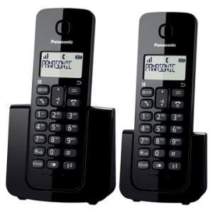 [EFACIL] Telefone sem Fio KX-TGB112LBB Preto com Identificador de Chamadas + Ramal - Panasonic POR R$185