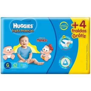 [Walmart] Pacote de Fraldas  Turma da Mônica Tripla Proteção  46/52/58 - XG/G/M