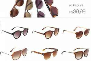 [Americanas] Vários modelos Óculos de Sol