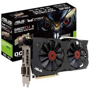 [Mega Elefante 1000 A.C.] Placa de Vídeo ASUS Nvidia GeForce GTX 970 4GB GDDR5 PCI Express 3.0 STRIX-GTX970-DC2OC-4G