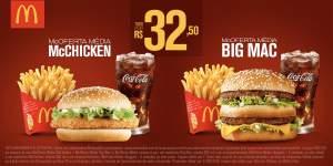 [Mc Donalds] McOferta Média McChicken + McOferta Média Big Mac por R$ 33