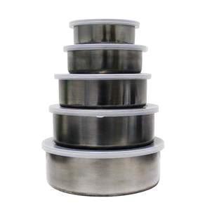 [PontoFrio] Conjunto de Potes Inox com tampa 5 Peças Wincy por R$ 20
