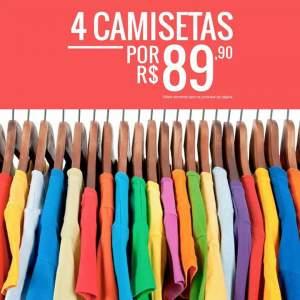 [Dafiti] 4 camisetas por R$ 90