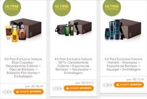 [Natura] Kits dia dos Pais + Cupom 40% Ainda dá tempo - a partir de R$ 45