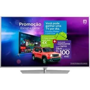[Submarino] Smart TV LED Android 55'' Philips 55PUG6700/78 Ultra HD 4K com Conversor Digital 3 HDMI 3 USB Wi-Fi 120Hz Dual Core por R$ 3040