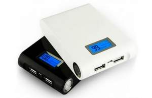[Peixe Urbano] Carregador Portátil Power Bank 12.000 mAh conexão USB com Visor digital e Lanterna LED - HBA Shop. Frete grátis por R$ 50