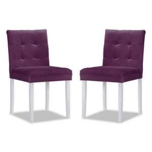 [MOBLY] Conjunto 2 Cadeiras de Jantar Roxo