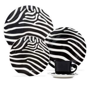 [Shopfacil] Aparelho de Jantar, Cha e Sobremesa Oxford Daily Zebra Daily  - 20 Pecas - R$158