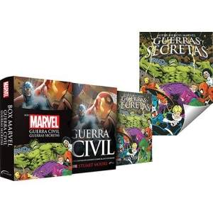 [Americanas] Box Marvel: Guerra Civil/ Guerras Secretas- 1ª Ed. Slim+ Pôster - R$22