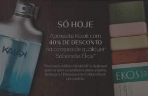 [Natura] Kaiak com 40% de desconto na compra de qualquer sabonete Ekos