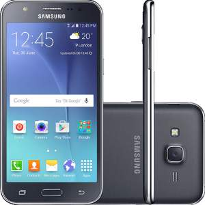 "[Sou Barato] Smartphone Samsung Galaxy J5 Duos Dual Chip Android 5.1 Tela 5"" 16GB 4G Wi-Fi Câmera 13MP - Preto por R$ 700"
