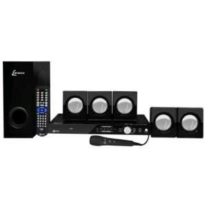 [Ricardo Eletro] Home Theater 5.1 Canais 270W RMS Lenoxx com DVD, Rádio FM, Karaokê com Pontuação, Função Ripping e Conexão USB e Auxiliar + Grátis 1 Microfone - Frete GRATIS - R$ 299