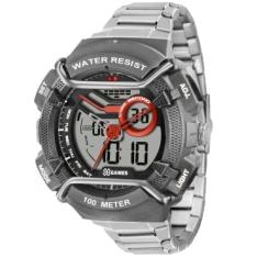 [Ricardo Eletro] Relógio Masculino X Games Anadigi, Pulseira de Aço, Caixa de 5,4 cm, Resistência a Água 100 Metros - XMPSA034 BXSX por R$ 81