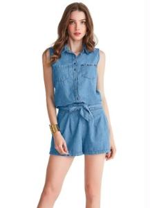 [Posthaus]  Macaquinho Lunender tipo Jeans (duas cores disponíveis) - por R$48