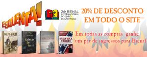 [EDITORA PENSAMENTO] TODOS OS LIVROS COM 20% DE DESCONTO + 01 PAR DE INGRESSOS PARA A BIENAL DO LIVRO EM SÃO PAULO