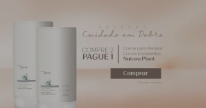 [Natura] Creme para Pentear Controle de Volume Curvas Envolventes Natura Plant - 200ml R$ 25 Leve 2 Pague 1