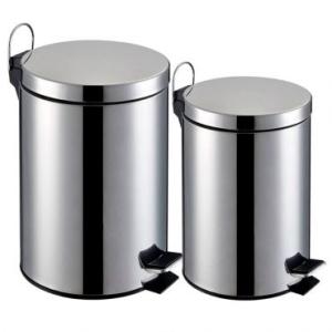 Lixeira Inox - Kit 2 peças capacidade de 3L e 5L, Balde Interno Removível - R$49,90